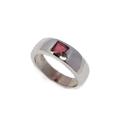 Elemental Gypsy Ring - Pink Tourmaline - 6⌀ (S925)