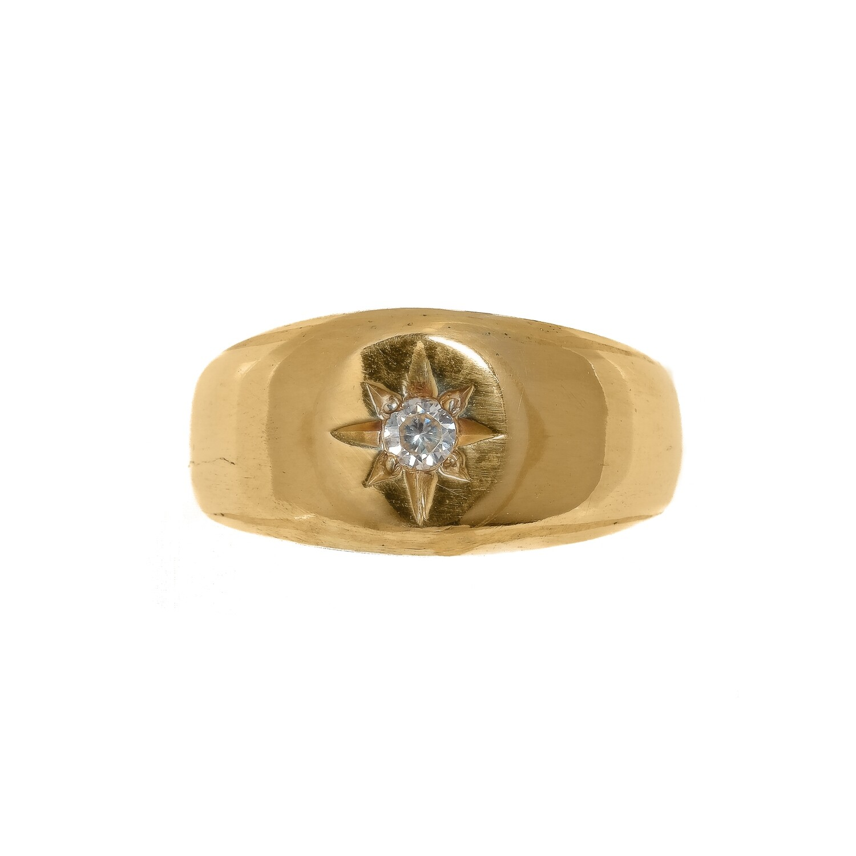 Vanessa Signet Ring - Moissanite - MTO (Vermeil)