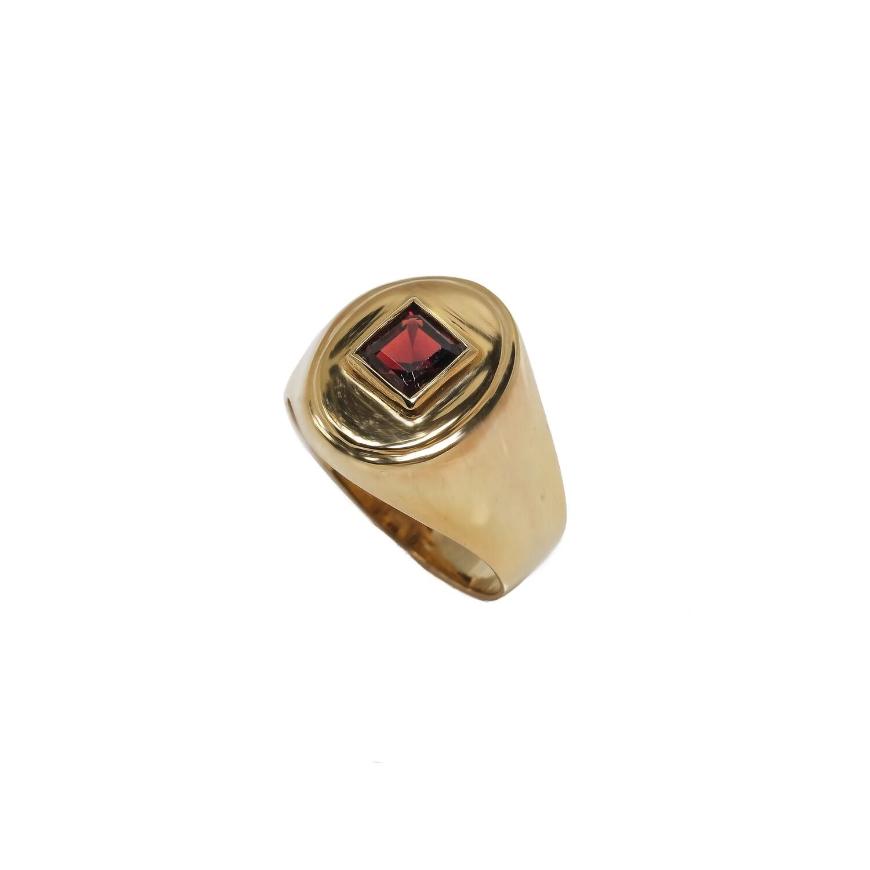 Elemental Signet Ring - Garnet- 4.5⌀ (Vermeil)