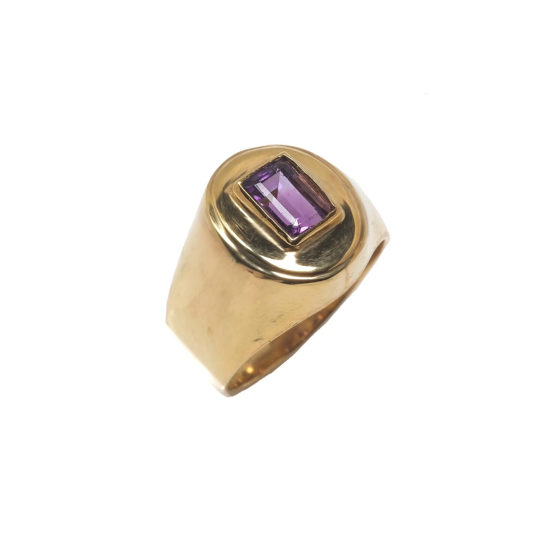 Elemental Signet Ring - Amethyst- 5⌀ (Vermeil)