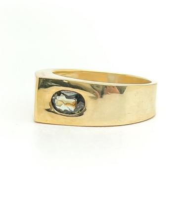 Elemental Moderne Teardrop Ring - Kyanite - 6.5⌀ (Vermeil)