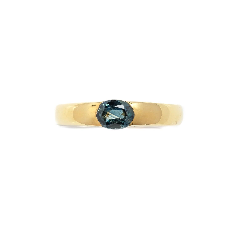 Elemental Half Gypsy Ring - Kyanite - 5.5⌀ (Vermeil)