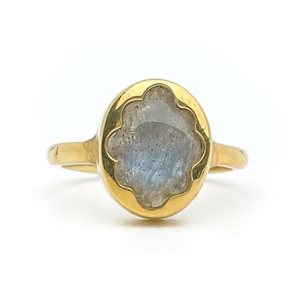 Elemental Bloom Ring - Labradorite - MTO (Vermeil)