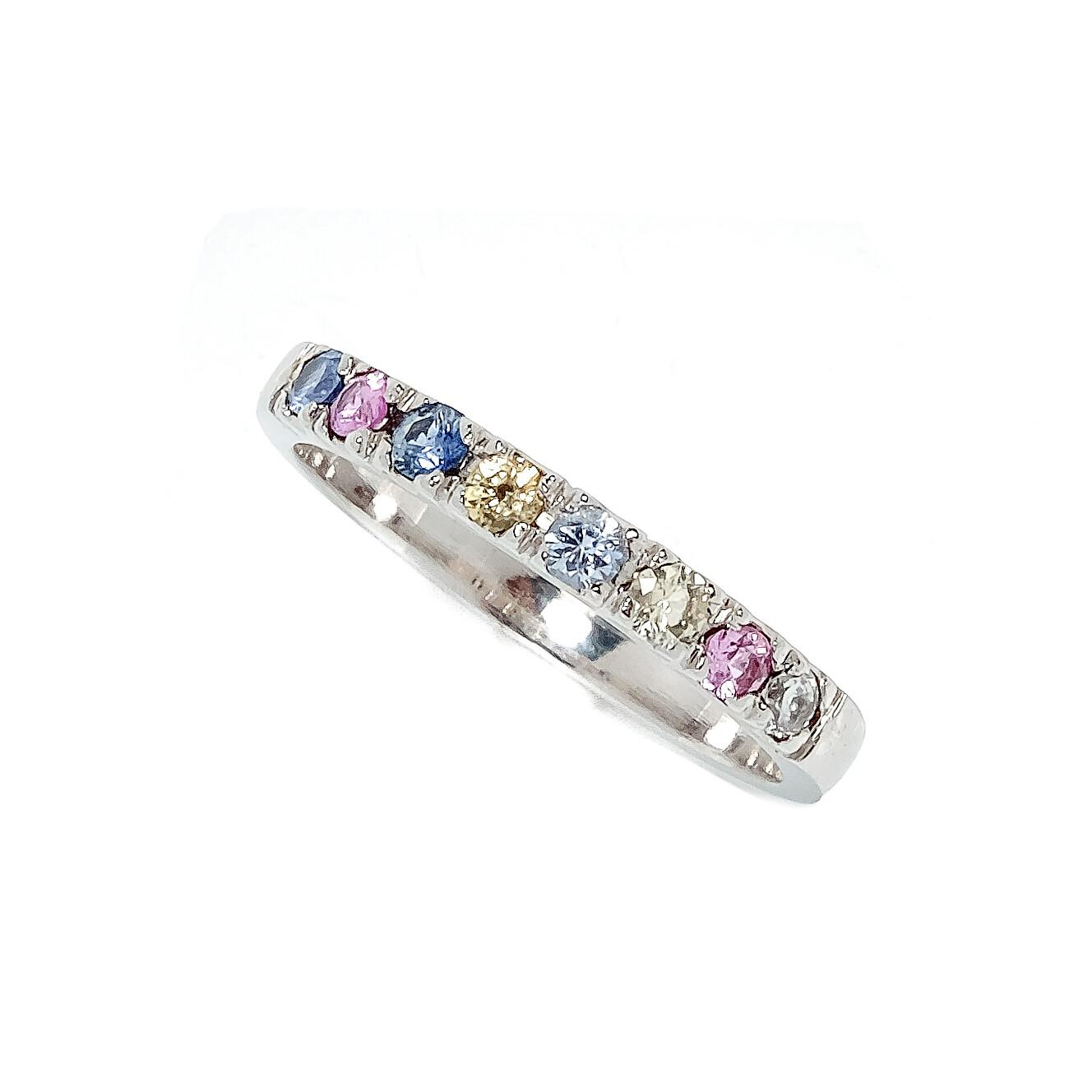 Elemental Half Eternity Ring - Sapphires - 6.5⌀ (14KT)