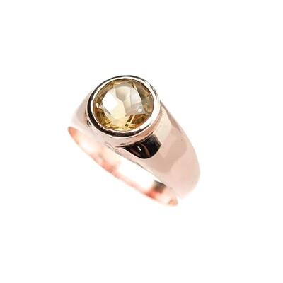 Elemental Gypsy Ring - Citrine - 6⌀ (Vermeil)