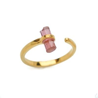 Elemental Open Moderne Wrap Ring - Tourmaline - 6.5⌀ (Vermeil)