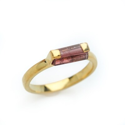 Elemental Bar Ring - Tourmaline - 6⌀ (Vermeil)