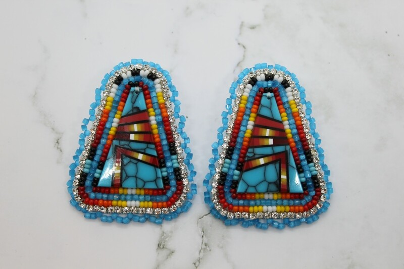 BLUE AND TURQUOISE INLAY