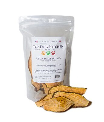 Pure Sweet Potato Chips Treats for dogs 4 oz