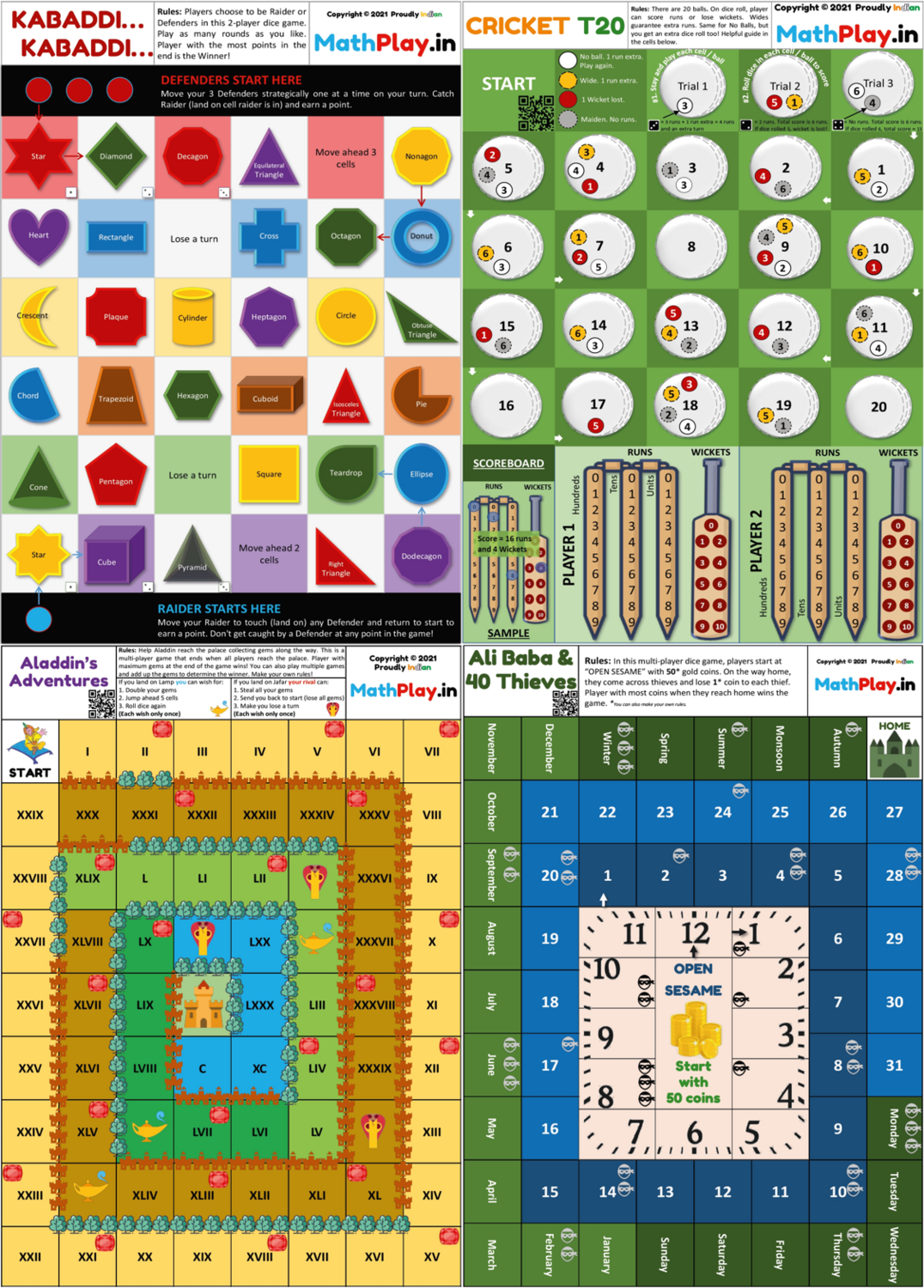 MathPlay Sports 'n Tales Combo - Fun and Educational Board Games for Kids (5-10 Years) to Learn Maths   Children Gift, Award and Competition Award Option