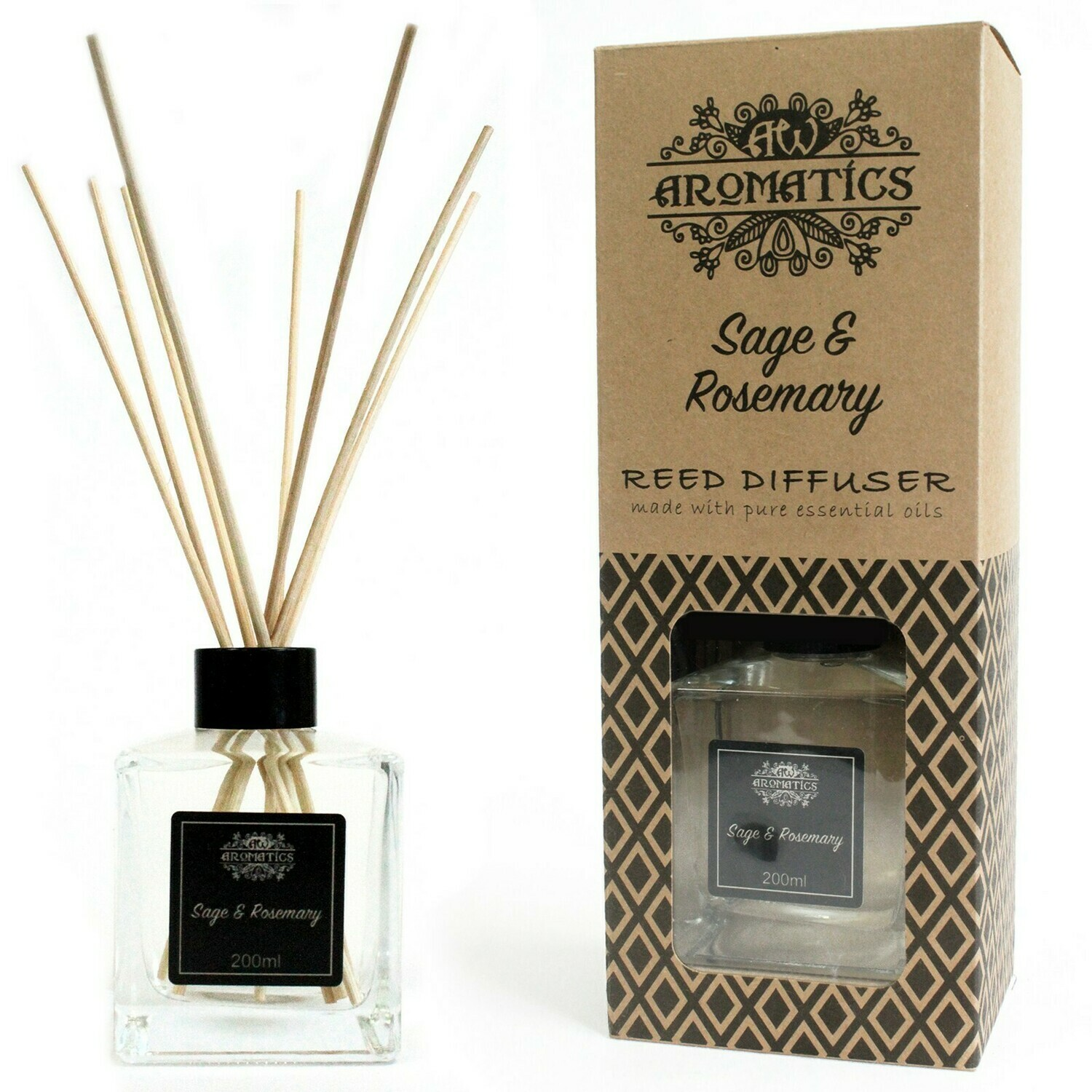 Sage & Rosemary Essential Oil Reed Diffuser 200 ml