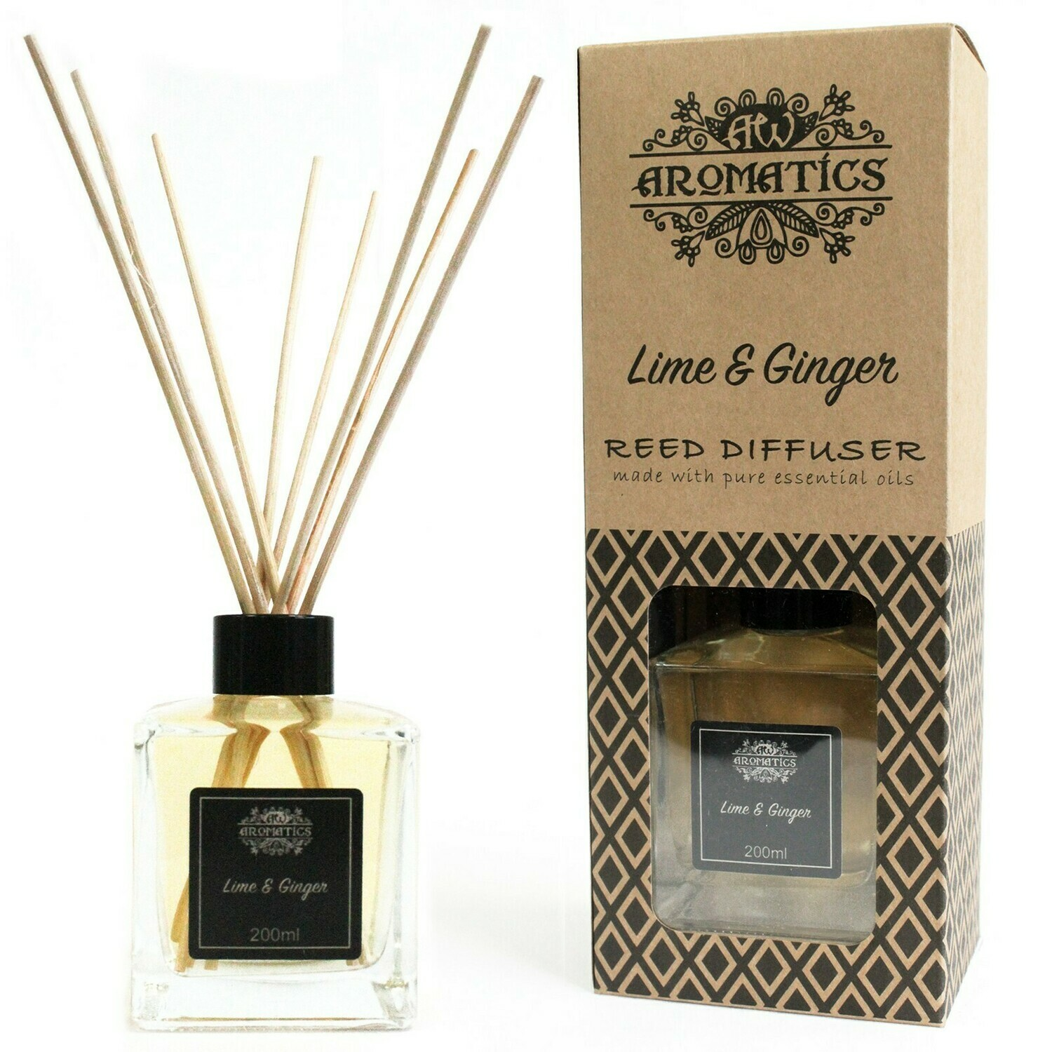 Lime & Ginger Essential Oil Reed Diffuser 200 ml