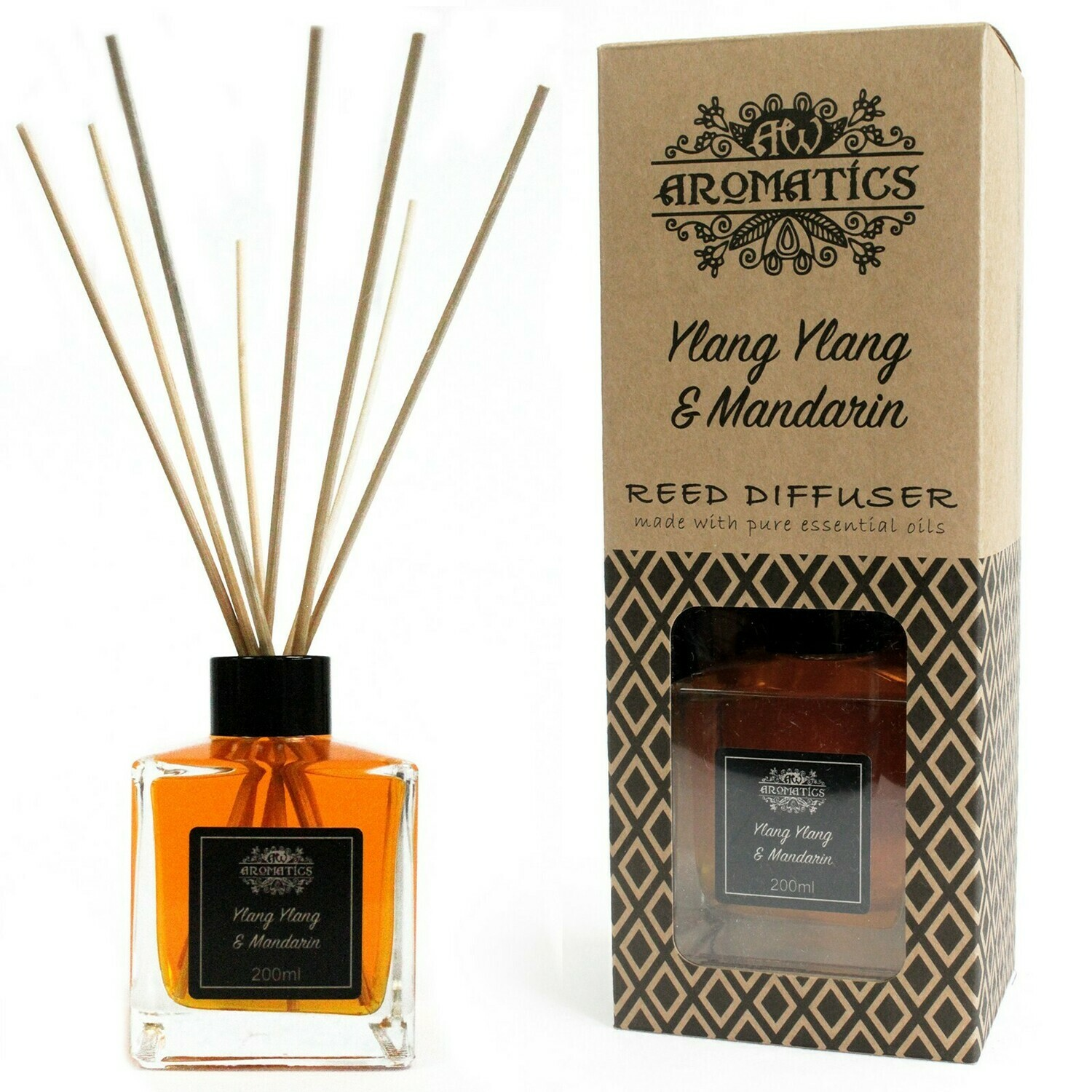 Ylang Ylang & Mandarin Essential Oil Reed Diffuser 200 ml