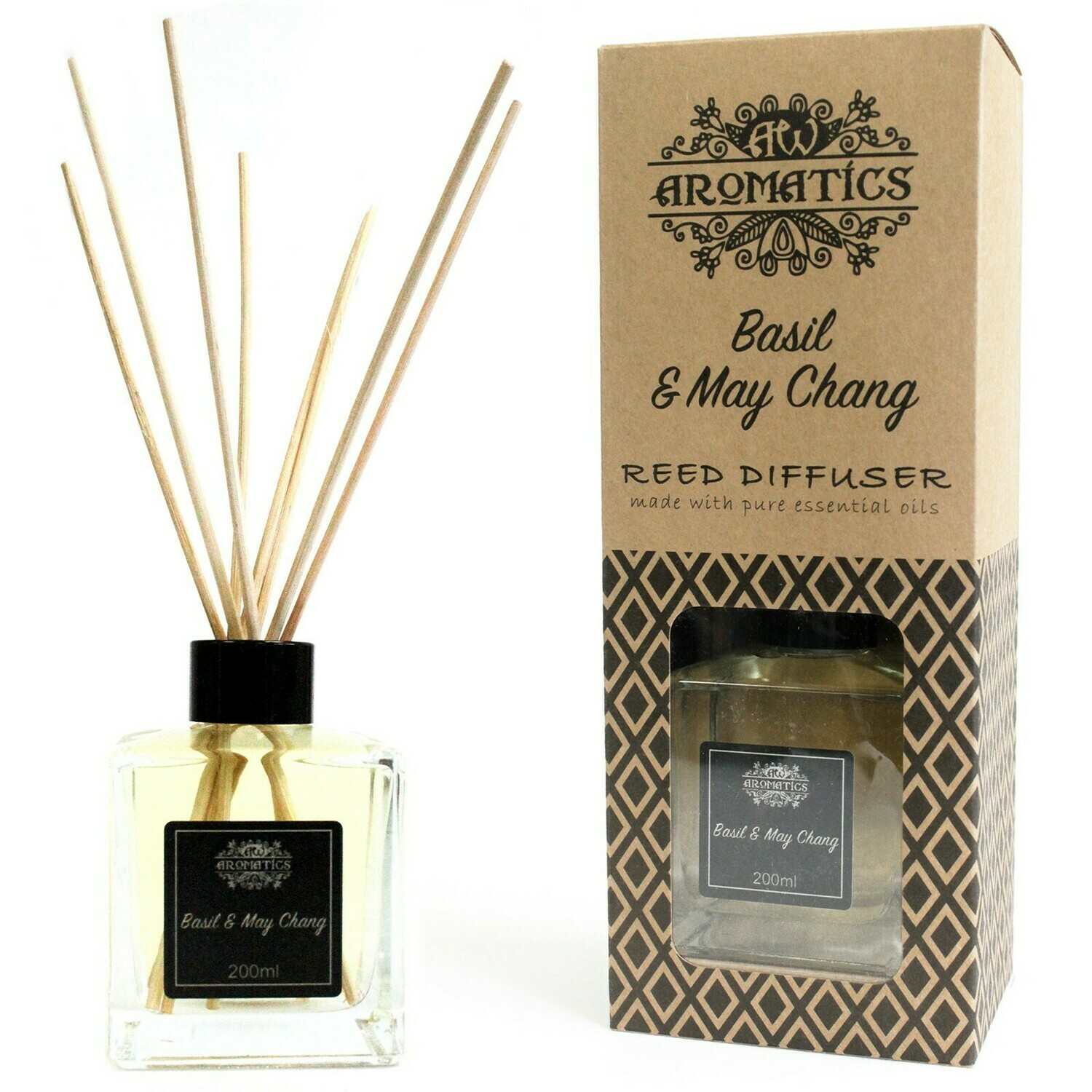 Basil & Maychang Essential Oil Reed Diffuser 200 ml