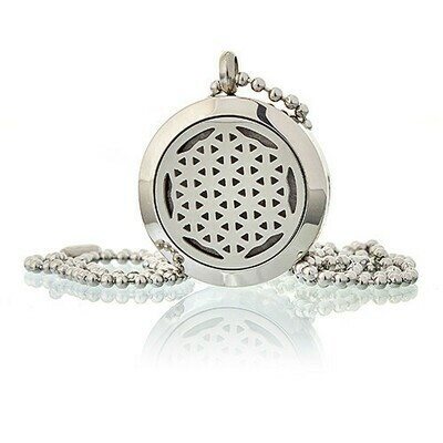 Aromatherapy Diffuser Necklace - Flower of Life