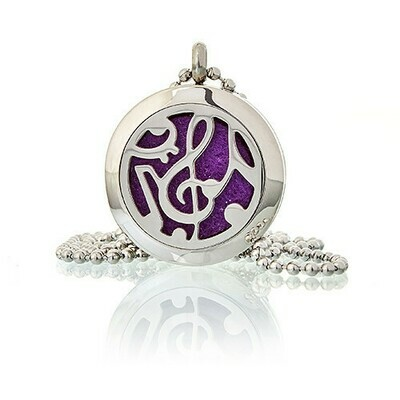 Aromatherapy Diffuser Necklace - Music Notes