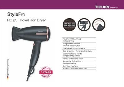 Beurer HC 25 travel hair dryer