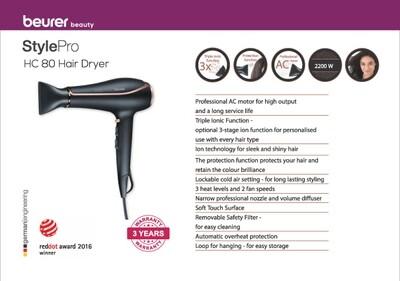 Beurer HC 80 hair dryer