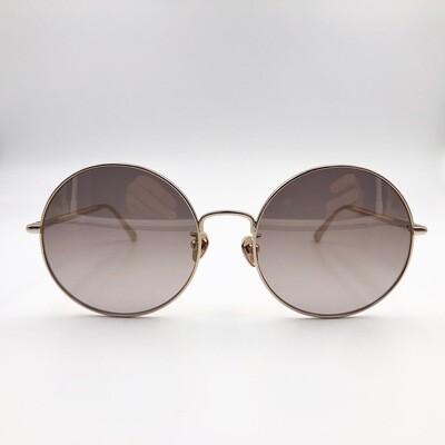 Occhiale da sole Nina Ricci tondo in metallo oro - SNR 213