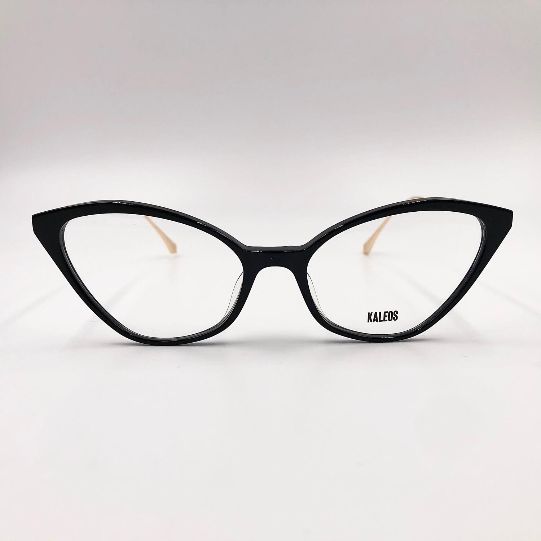 Occhiale da vista in cellometallo da donna con astine in oro Kaleos - Harding