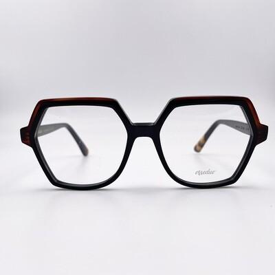 Occhiale da vista in acetato a forma ampia esagonale Essedue - 146