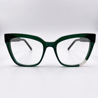 Occhiale da vista donna in acetato verde Jplus - Emilie