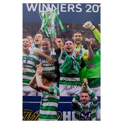 Scott Brown Celtic 'Invincibles' Scottish Cup Signed Print
