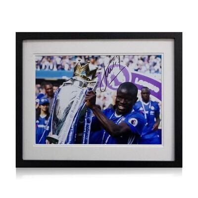 N'golo Kante Signed Premier League Trophy Print