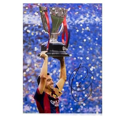 Xavi Copa Del Rey Celebration Signed Print