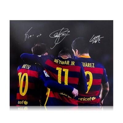 "Messi, Neymar Jr & Suarez ""Ultimate Front Three"" Print"