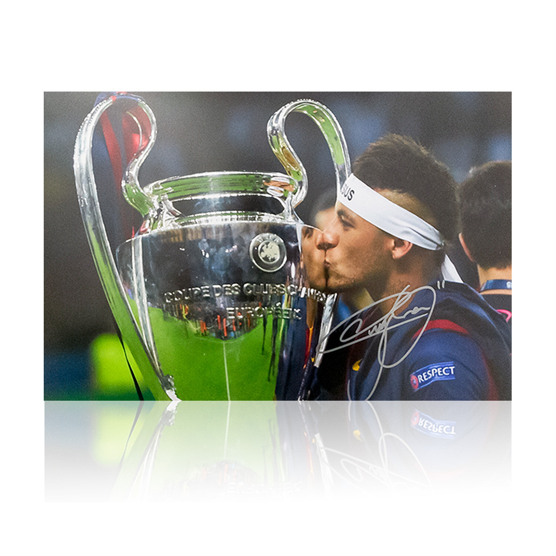 Neymar Jr Champions League Signed Print