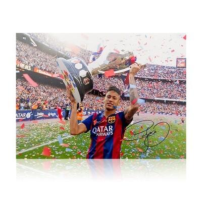 Neymar Jr Copa Del Rey Signed Print