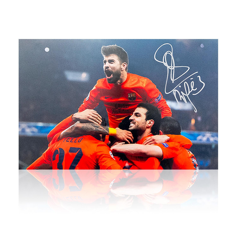Gerard Pique Barcelona Celebration Signed Print