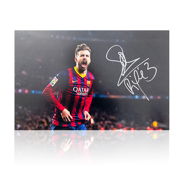 Gerard Pique Barcelona Signed Print
