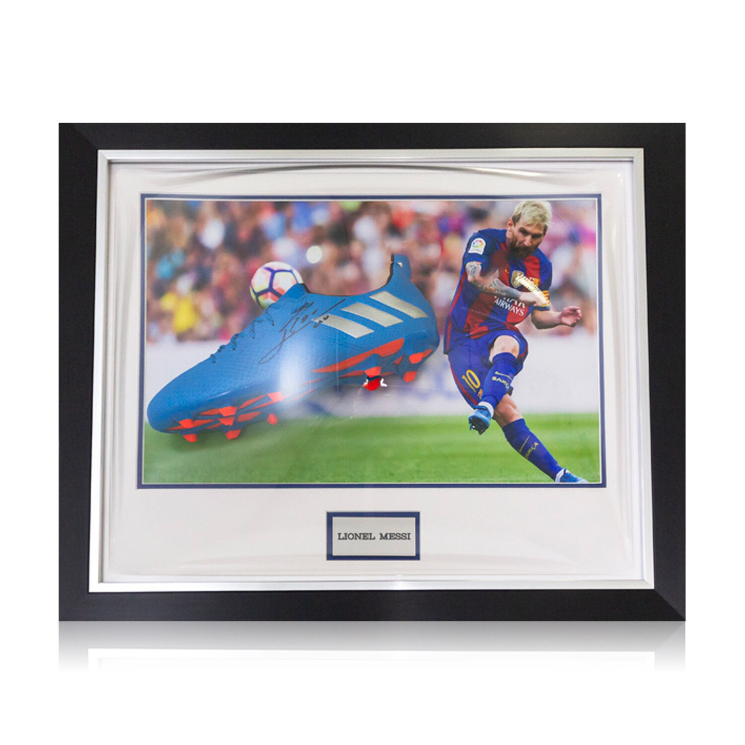 Lionel Messi Signed & Framed Adidas Boot
