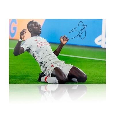Sadio Mane Celebration Signed Print