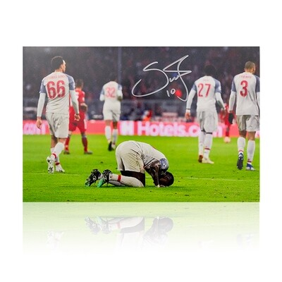 Sadio Mane Signed Liverpool Print