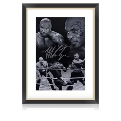 Mike Tyson Black & White Signed & Framed Print