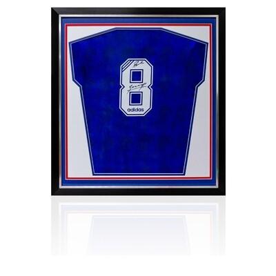 Paul Gascoigne Signed & Framed Rangers Retro Shirt