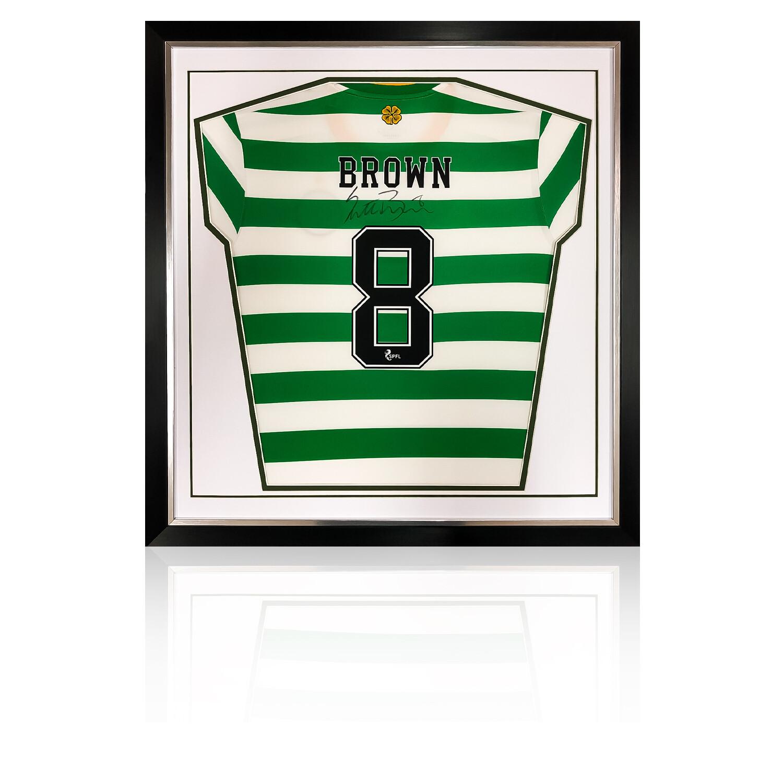 Scott Brown Adidas 2020/21 Signed & Framed Celtic Shirt