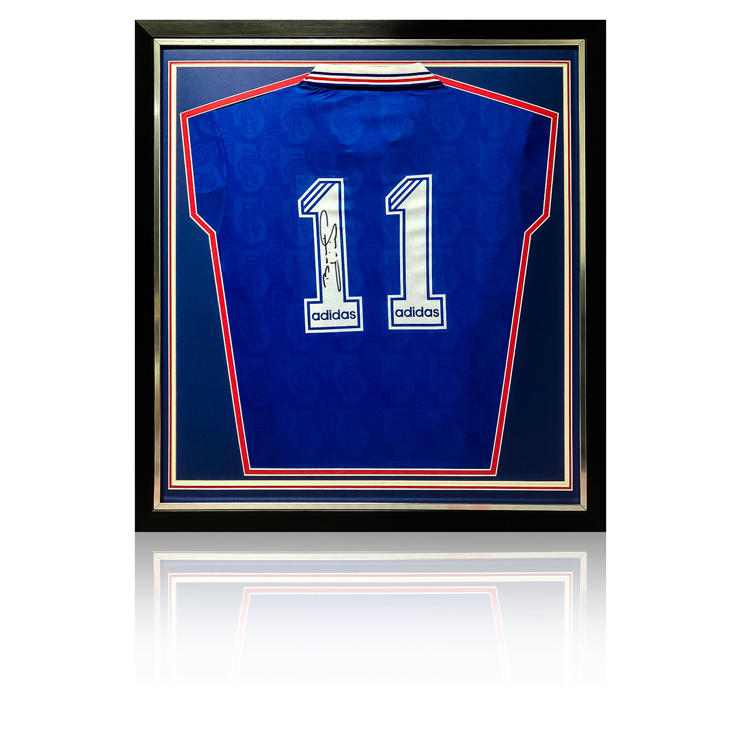 Brian Laudrup Signed & Framed Rangers 1995/96 Retro Shirt