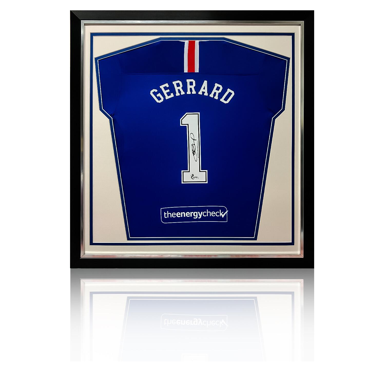 Steven Gerrard Signed & Framed Rangers Shirt