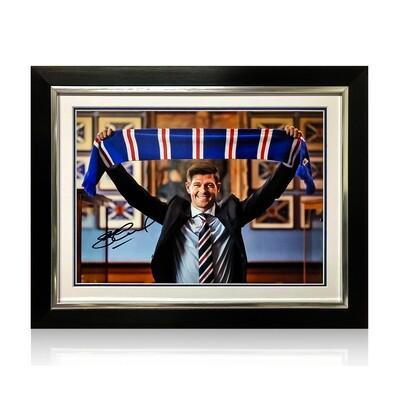 Steven Gerrard Signed & Framed Print