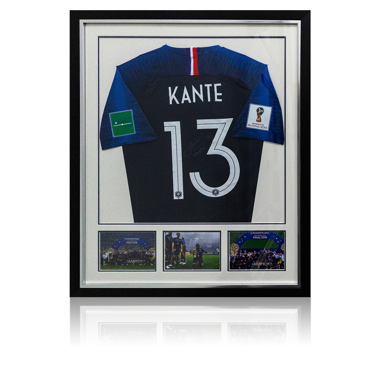 N'golo Kante Signed & Framed France World Cup Shirt