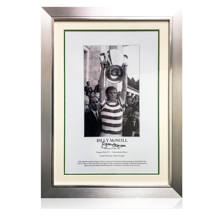 Billy McNeil Signed & Framed 1967 Lisbon Lions Print