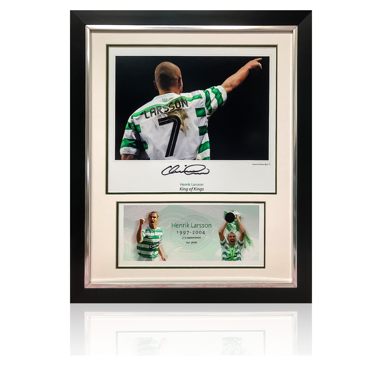 Official Henrik Larsson Collection Larsson Number 7 Signed Display