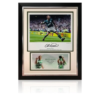 Official Henrik Larsson Scottish Cup Glory Signed Display