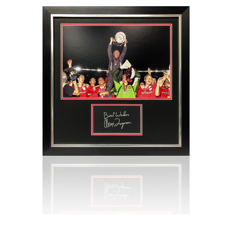 Sir Alex Ferguson Champions League 1999 Signed Display