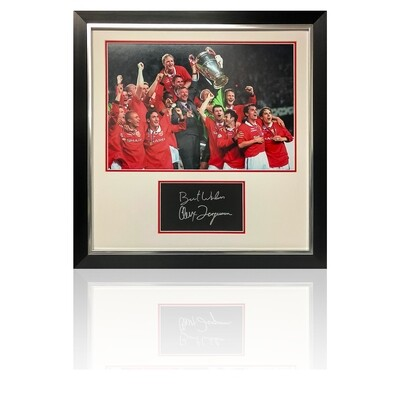 Sir Alex Ferguson Champions League Winner Signed Display