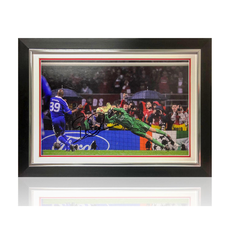 Van Der Sar Champions League Final Signed Print
